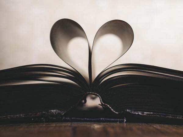 Heart-shaped book